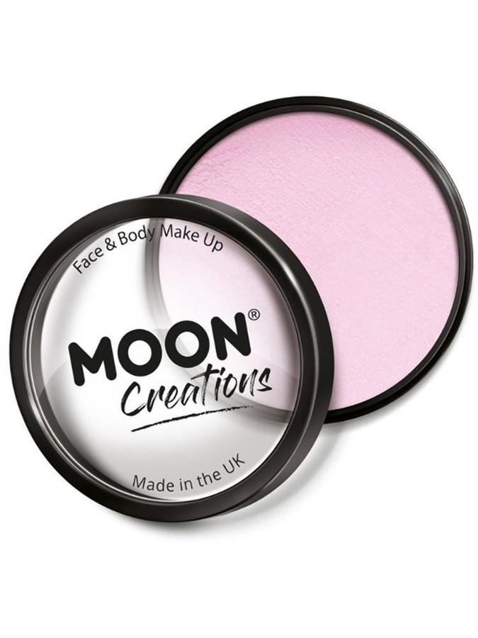 Moon Creations Pro Face Paint Cake Pot, Light Pink.