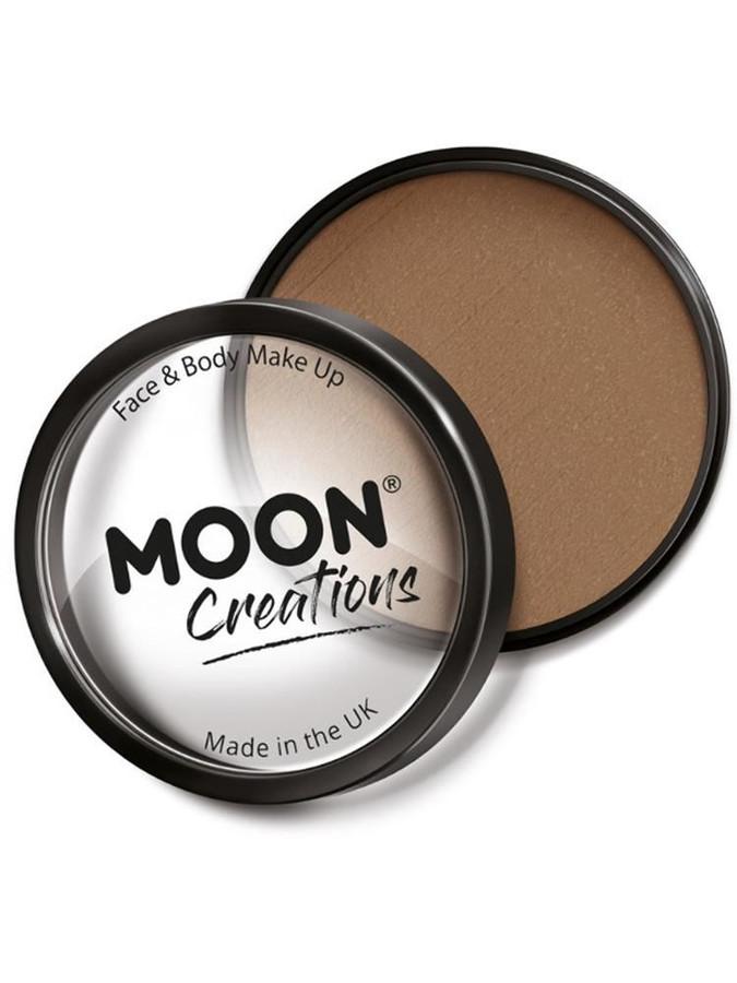 Moon Creations Pro Face Paint Cake Pot, Light Brow.