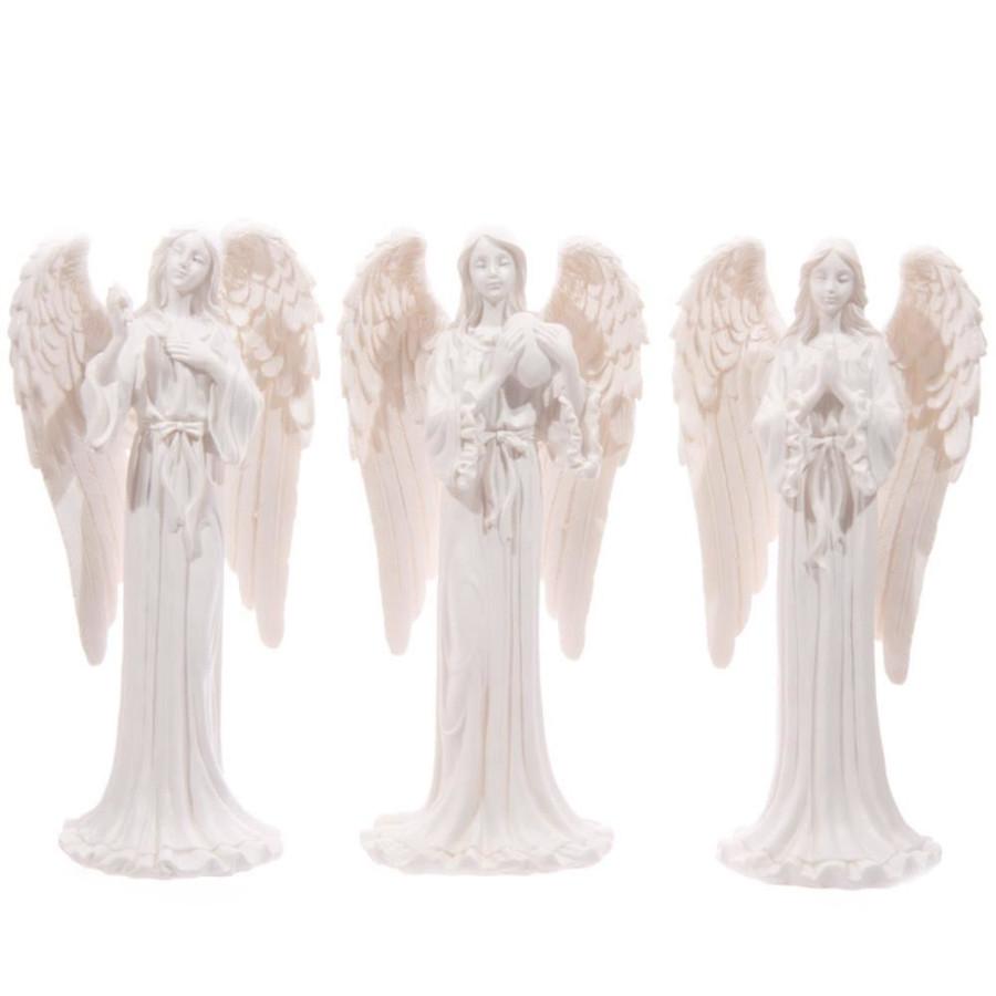 White Standing Angel Figurine 20cm