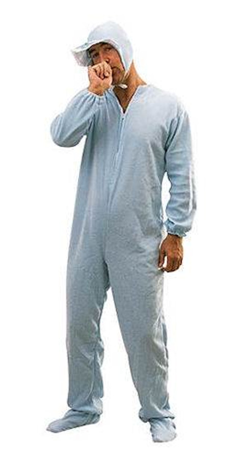 Adults Baby Sleepsuit Blue.