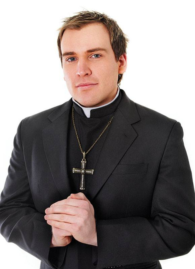 Priest Shirt Front With Collar.