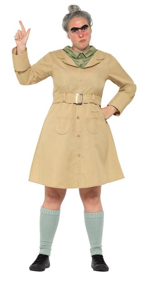 Roald Dahl Deluxe Miss Trunchbull Costume,Licensed Fancy Dress,UK Size 8-10