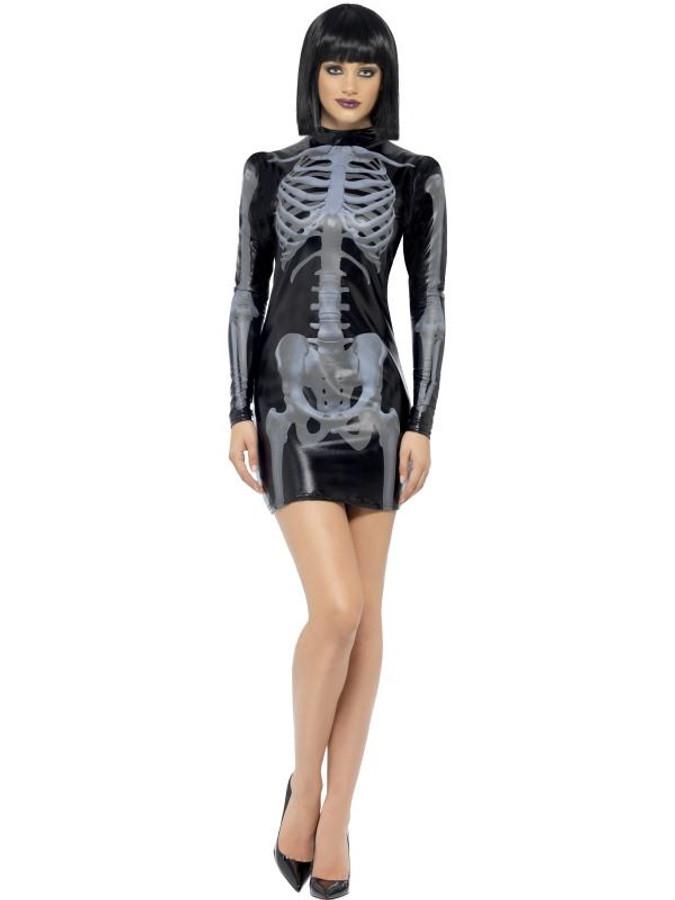 Fever Miss Whiplash Skeleton Costume, Medium