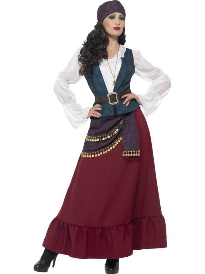Deluxe Pirate Buccaneer Beauty Costume, Large, Fancy Dress, Womens, UK 16-18