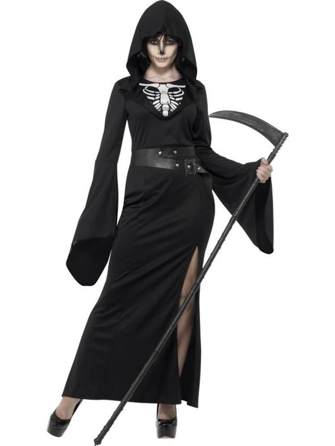Lady Grim Reaper Costume, Large, Halloween Fancy Dress, Womens, UK 16-18
