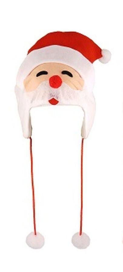 Santa Christmas Novelty Hat with Pom Poms, Fun Novelty/Xmas Gift