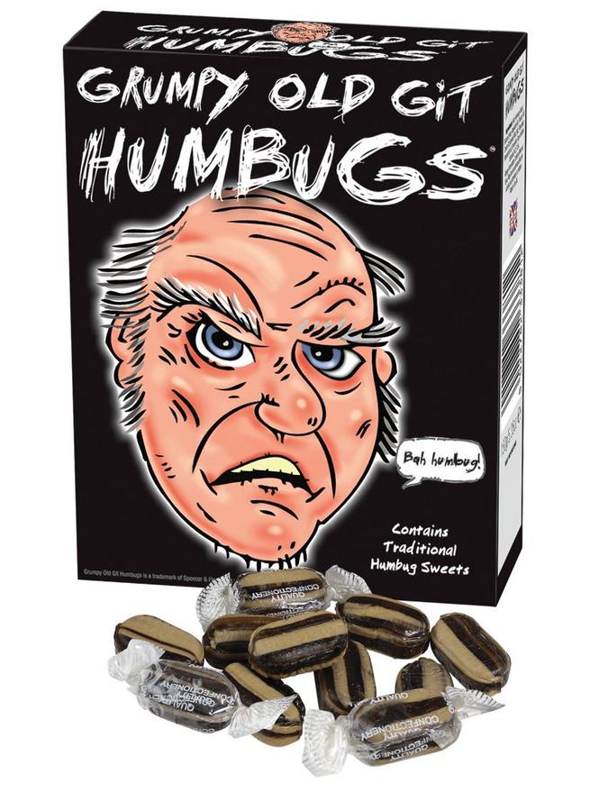 Grumpy Old Git Humbugs, Novelty Birthday/Christmas/Easter Sweets & Gifts