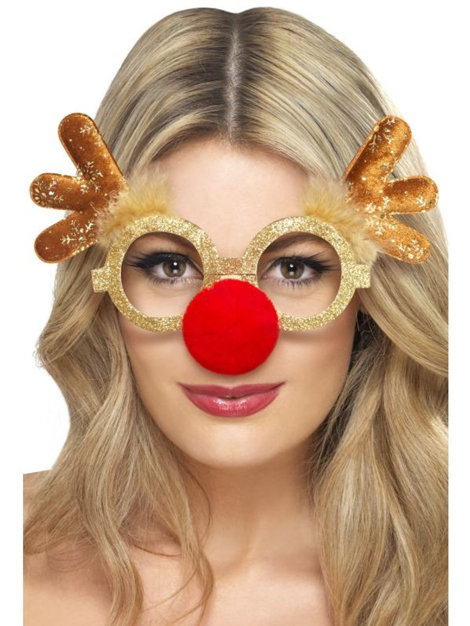 Reindeer Comedy Specs, One Size