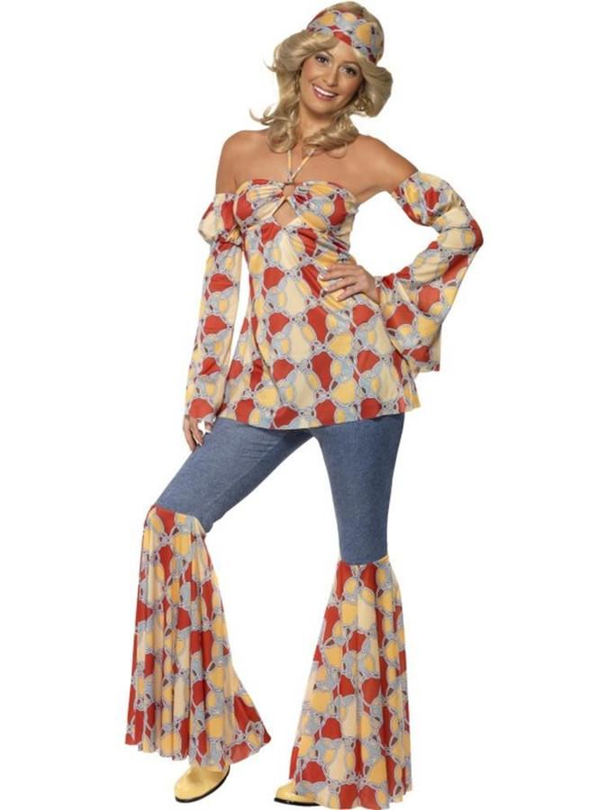Vintage Hippy 1970's Costume, XL, Fancy Dress, Womens, UK 20-22