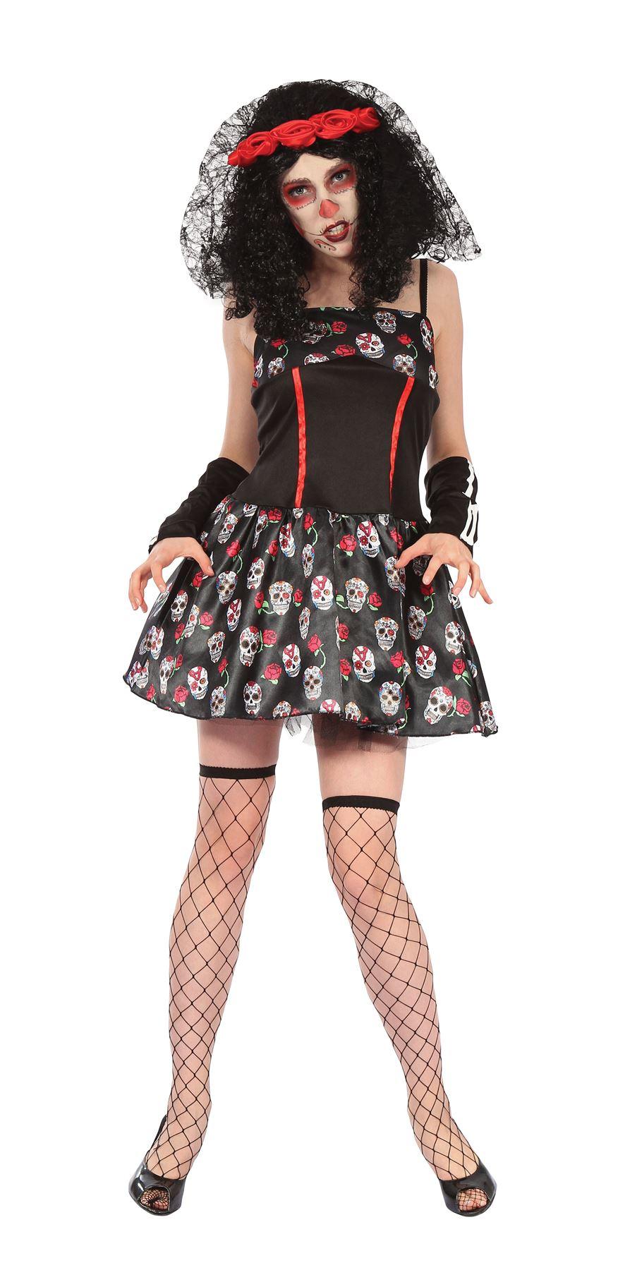 Day Of The Dead Skull Dress Halloween