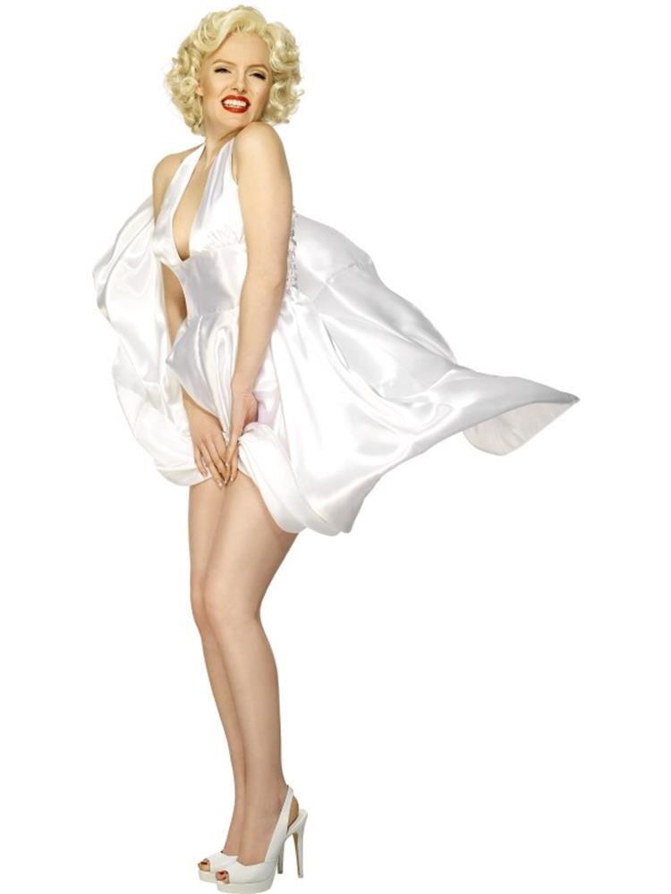Short Blonde Wavy Wig Marilyn Monroe Wig Movie Film Star Fancy Dress