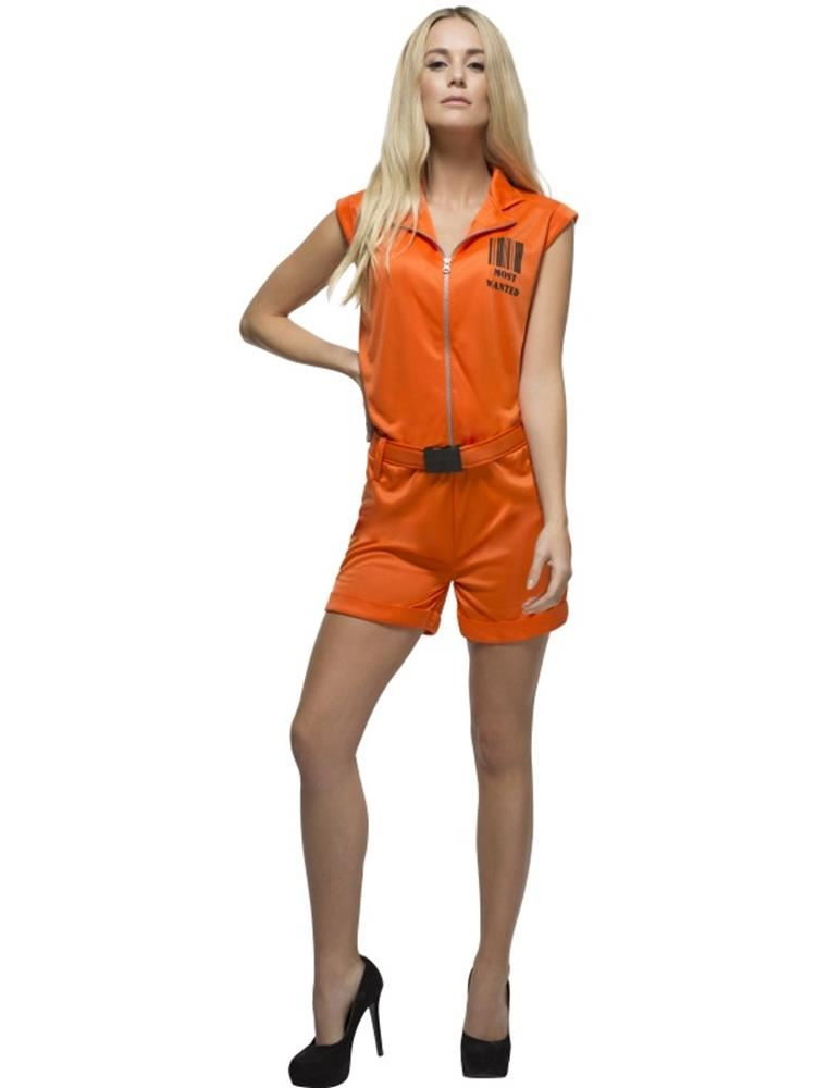 dcac6a19 Orange Prisoner Convict Queen Costume, Small, Fancy Dress, Womens, UK 8-