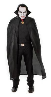 "FANCY DRESS COSTUME 56/"" NYLON DRACULA CAPE RED"