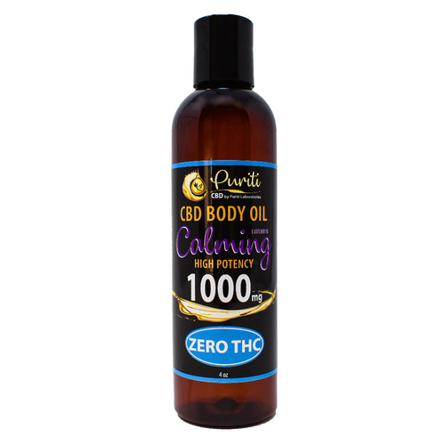 CBD Calming Body Oil, THC Free, 1000mg 4 oz