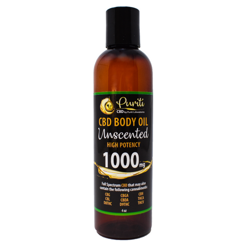 CBD Whole Plant Cannabinoid Extract, Unscented Body Oil, 1,000mg 4 oz