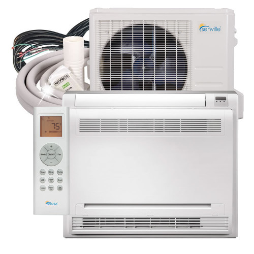12000 BTU Floor Mounted Mini Split Air Conditioner - Heat Pump - SENA/12HF/IF