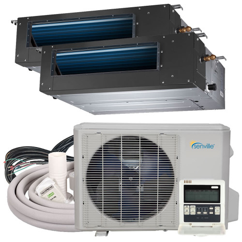 18000 BTU Dual Zone Concealed Duct Air Conditioner - Heat Pump - SENA/18HF/DID