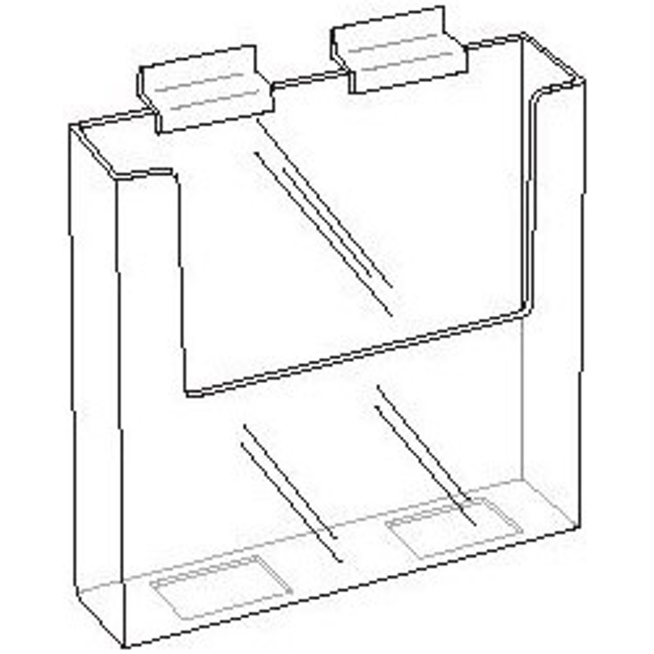 Acrylic Brochure Holder for Slatwall 8.5x11