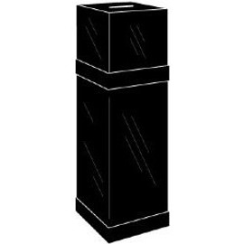 11x11x11 Black Ballot Box with Black Floor Stand