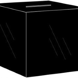 11x11x11 Black Acrylic Locking Ballot Box