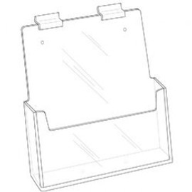 8.5x11 Clear Acrylic Slatwall Brochure Holder Diagram