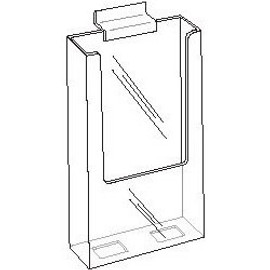 4x9 Clear Acrylic Slatwall Brochure Holder Diagram