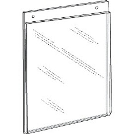 8.5x11 Portrait Wall Mount Sign Holder With Holes Diagram