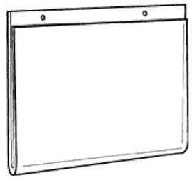 14x11 Clear Plastic Wall Mount Ad Frame with Holes Diagram