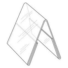 5x7 Clear Plastic Double Sided Table Tent Diagram