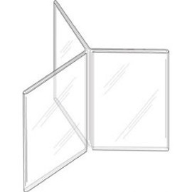 5x7 Clear Plastic Three-Panel Six-Sided Sign Holder Diagram