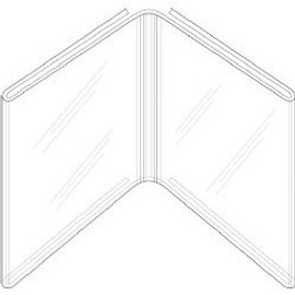 5x7 Book Style Sign Holder Diagram