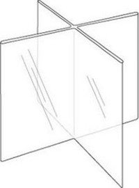 5x7 Four-Panel Eight-Sided Sign Holder Diagram