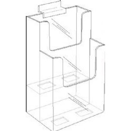 4x9 TwoTier Slat wall Brochure Holder