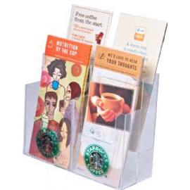 4x9 Brochure Holder 4 Pocket Clear Acrylic