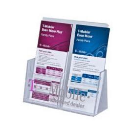 4x9 Two Pocket Tri-fold Brochure Holder