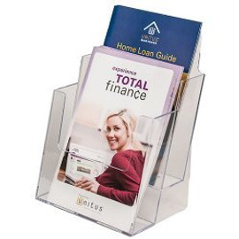 2 Tiered Half Page CounterTop Literature Holder
