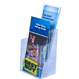 4x9 Two Pocket Two Tier Brochure Holder