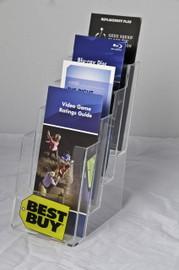 4x9 Four Pocket Four Tier Brochure Holder
