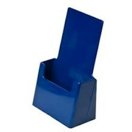 4x9 Tri-fold Blue Brochure Holder