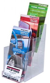 4x9 Brochure Holder 3 Tiers with Business Card Pocket