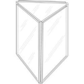 5x7 Three-Panel Sign Holder Diagram