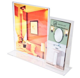 8.5x11 Acrylic Combo Ad Frame with Pocket
