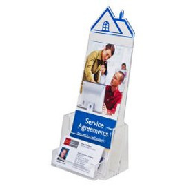 4x9 Roof Top Brochure Holder with BC Pocket