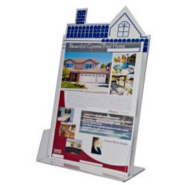 8.5x11 House Shape Brochure Holder