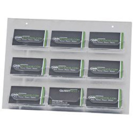 9 Pocket Wall Mount Clear Acrylic Business Card Holder