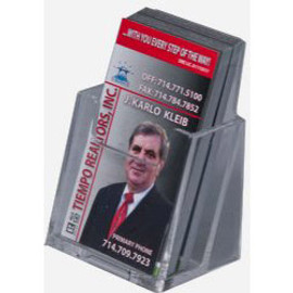 2.5x3.5 Clear Acrylic Vertical Business Card Holder