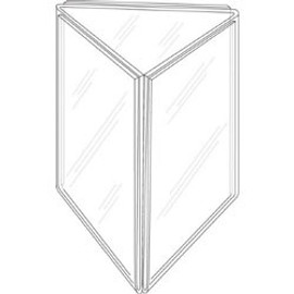 8.5x11 Three-Panel Sign Holder Diagram