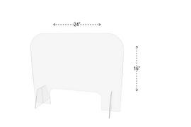 24x16 Sneeze Guard Acrylic Plastic Shield Diagram