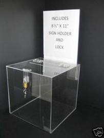 10x10 Clear Ballot Box Sign Holder and Lock