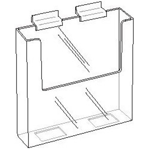 7.5 Wide Clear Acrylic Slatwall Brochure Holder Diagram